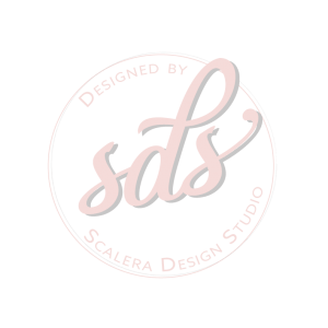 cicular pink logo for Scalera Design Studio