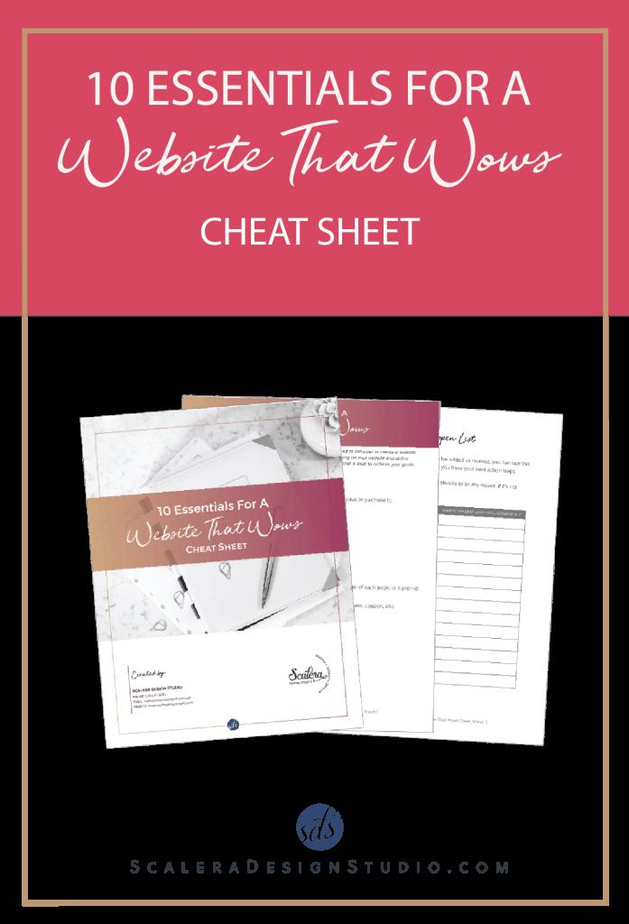 10 Essentials for Website Cheat Sheet